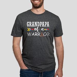 Grandpapa Of A Warrior Autism Awareness T-Shirt