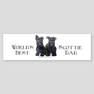 Scottish Terriers Best Dad Pu Bumper Sticker