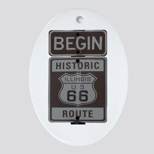 Route 66 Oval Ornament