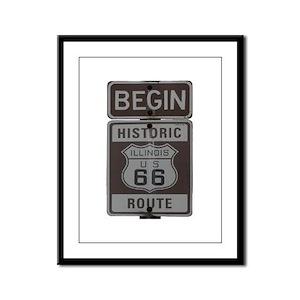 Route 66 Framed Panel Print