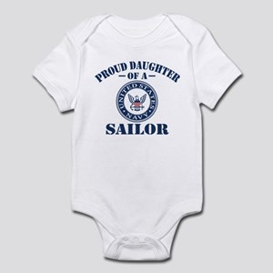 Proud Daughter Of A US Navy Sailor Infant Bodysuit