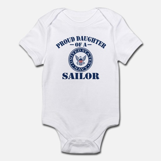 Proud Daughter Of A US Navy Sailor Infant Bodysuit