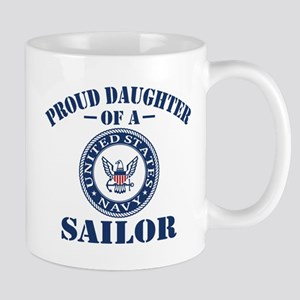Proud Daughter Of A US Navy Sailor Mug