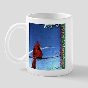 Birdwatcher - cardinal painting print Mug