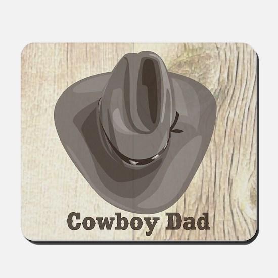 Cowboy Hat Dad Mousepad