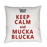 Keep Calm And Mucka Blucka (red) Everyday Pillow