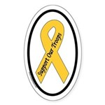 Support Our Troops Yellow Ribbon Oval Sticker