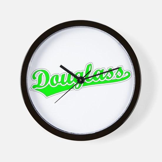 Retro Douglass (Green) Wall Clock
