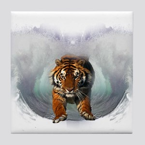Leaping Tiger Tile Coaster