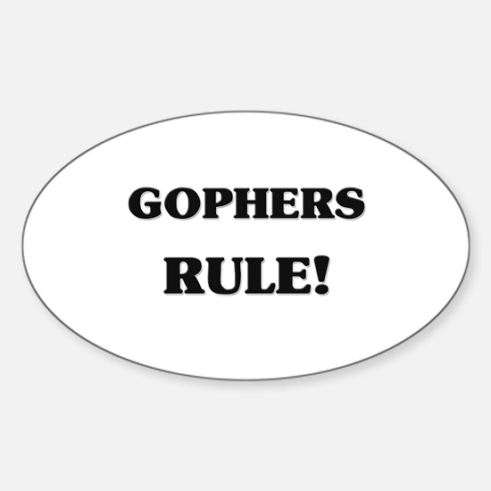 Gophers Rule Oval Decal