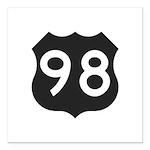 Hwy 98 Square Car Magnet 3
