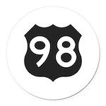 Hwy 98 Round Car Magnet