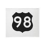 Hwy 98 Throw Blanket