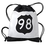 Hwy 98 Drawstring Bag