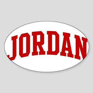 JORDAN (red) Oval Sticker