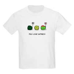 Peas Lovin' Happiness Kids T-Shirt