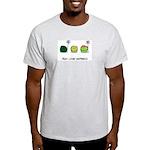 Peas Lovin' Happiness Ash Grey T-Shirt