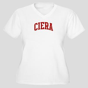CIERA (red) Women's Plus Size V-Neck T-Shirt