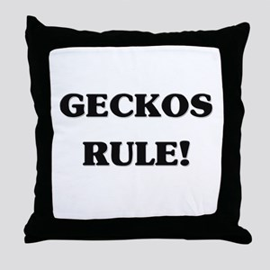 Geckos Rule Throw Pillow