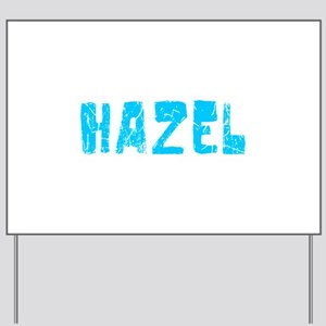 Hazel Faded (Blue) Yard Sign