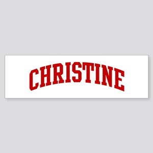 CHRISTINE (red) Bumper Sticker