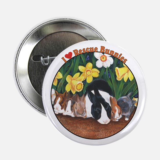 "I love Rescue Bunnies 2.25"" Button"