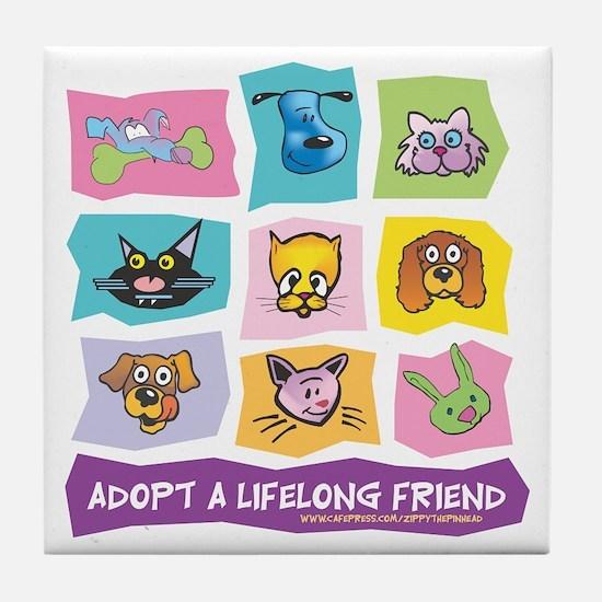 Adopt A Lifelong Friend Tile Coaster