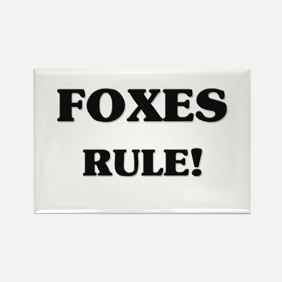 Foxes Rule Rectangle Magnet