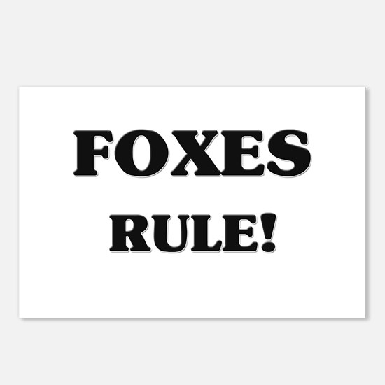 Foxes Rule Postcards (Package of 8)