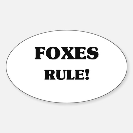 Foxes Rule Oval Decal