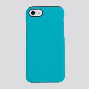 turquoise teal aqua blue iPhone 8/7 Tough Case