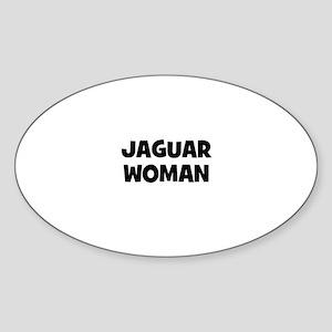 Jaguar Woman Oval Sticker