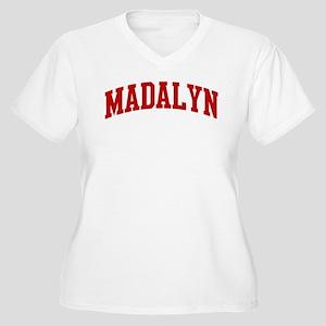 MADALYN (red) Women's Plus Size V-Neck T-Shirt