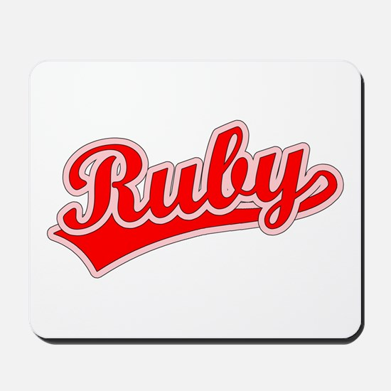 Retro Ruby (Red) Mousepad