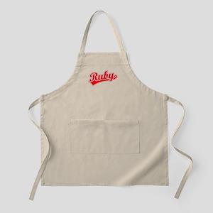 Retro Ruby (Red) BBQ Apron