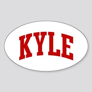 KYLE (red) Oval Sticker