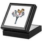 Valentine Art Tree and Bird Keepsake Box