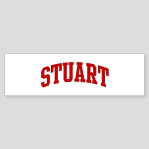 STUART (red) Bumper Sticker
