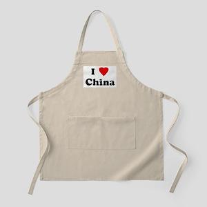 I Love China BBQ Apron