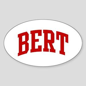 BERT (red) Oval Sticker
