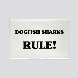 Dogfish Sharks Rule Rectangle Magnet