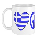 Greek Flag Heart & Greece Mug