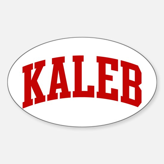 KALEB (red) Oval Decal