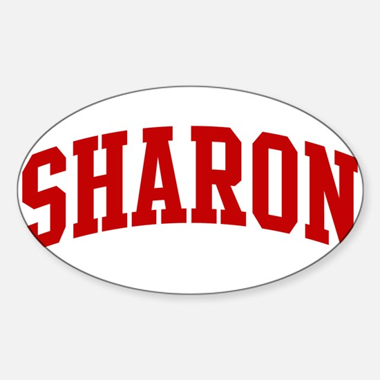 SHARON (red) Oval Bumper Stickers