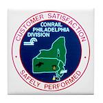 Conrail Philadelphia Division Tile Coaster