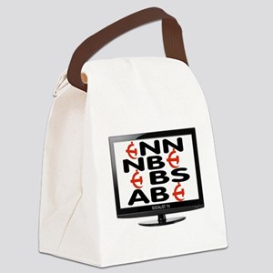 FAKE TV Canvas Lunch Bag