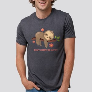 Don't Hurry Sloth Mens Tri-blend T-Shirt