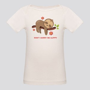 Don't Hurry Sloth Organic Baby T-Shirt
