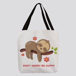 Don't Hurry Sloth Polyester Tote Bag