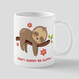 Don't Hurry Sloth 11 oz Ceramic Mug